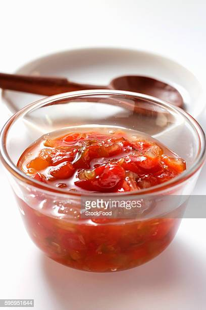 Pepper relish in small bowl
