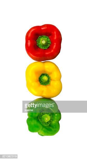 Pepper traffic light colours
