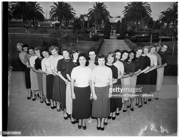 Pepperdine College Homecoming Queen Candidates 08 November 1951 Gloria Ann MarshallMarilyn Y WatsonJerry Marie CurtisMarilyn ToddSusi Hilda FaissNan...