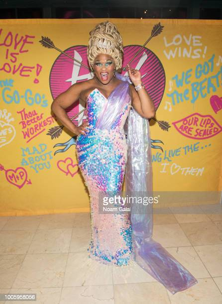 Peppermint attends the Head Over Heels Broadway opening night after party at Gustavino's on July 26 2018 in New York City