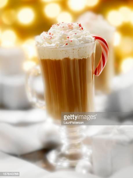 Pfefferminze heiße Schokolade in der Weihnachtszeit