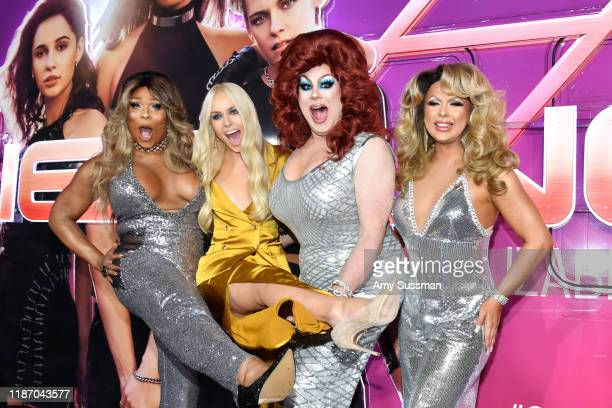 Peppermint Lindsey Vonn Nina West and Farrah Moan attend the premiere of Columbia Pictures' Charlie's Angels at Westwood Regency Theater on November...