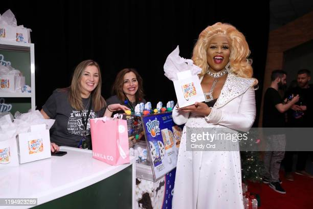 Peppermint poses with Dippin' Dots at the iHeartRadio's Z100 Jingle Ball 2019 Presented By Capital One - Gifting Lounge on December 13, 2019 in New...