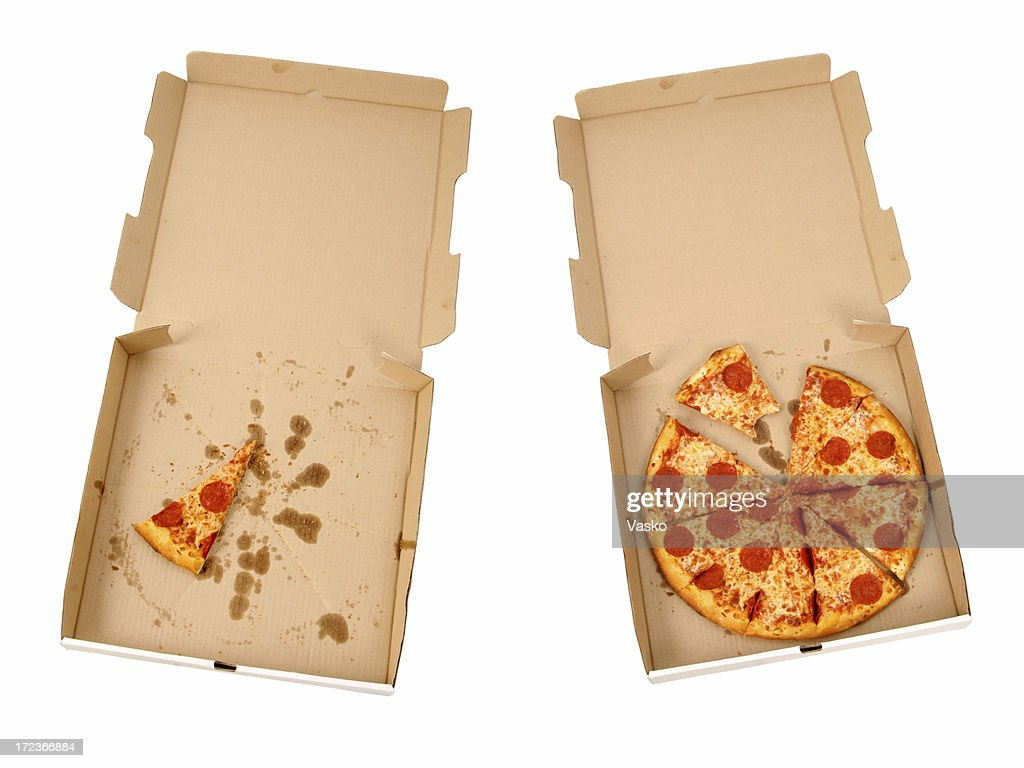 Pepperoni & Cheese Pizzas : Stock Photo