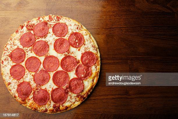 Pepperoni Pizza on a Table
