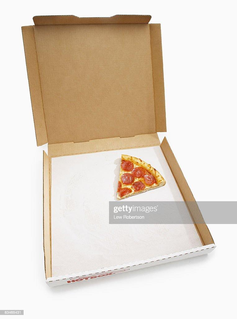 Pepperoni Pizza Slice in box : Stock Photo
