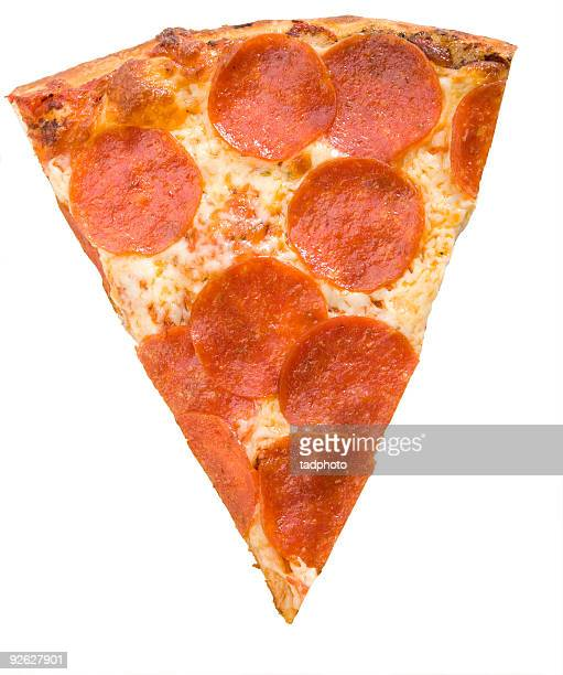 pepperoni pizza slice - isolated, adobe rgb - pepperoni pizza stock photos and pictures