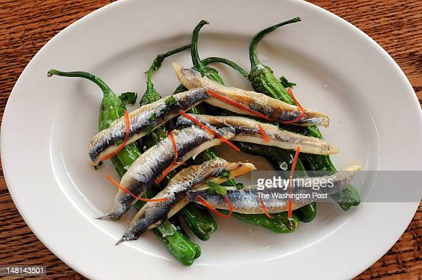 Peppers and Anchovies served at Bistro Vivant in McLean VA on Tuesday July 3rd 2012