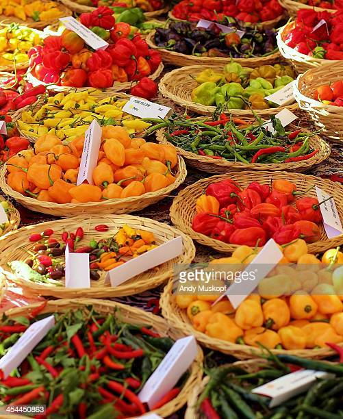 peppers for sale - greenville south carolina stock photos and pictures