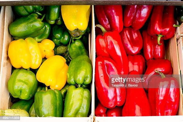 peppers - bavosi stock photos and pictures