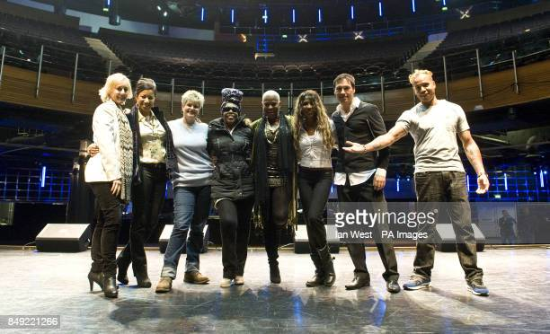 Pepsi and Shirley Hazell Dean Princess Lonnie Gordon Sinitta Nathan Moore of Brother Beyond Ray Slijngaard of 2 Unlimited at rehearsals for the Hit...
