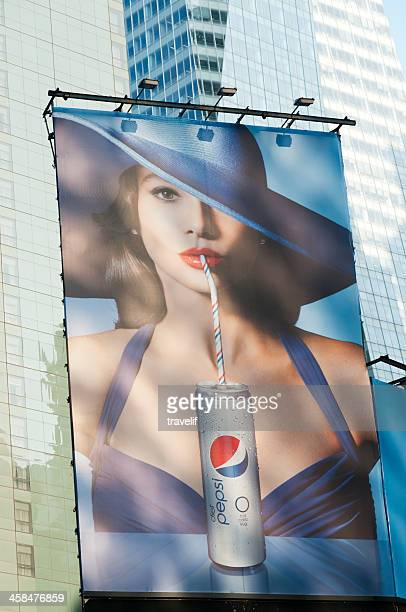 Pepsi Plakat am Times Square in Midtown Manhattan