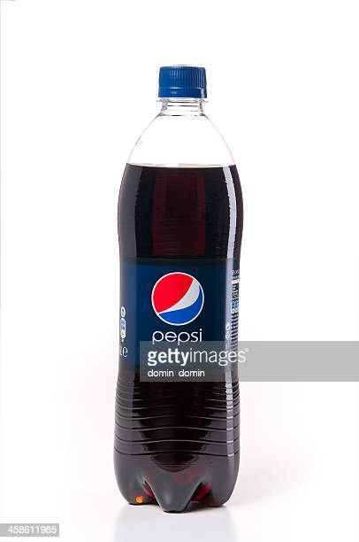 pepsi bottle isolated on white - soda bottle stock photos and pictures
