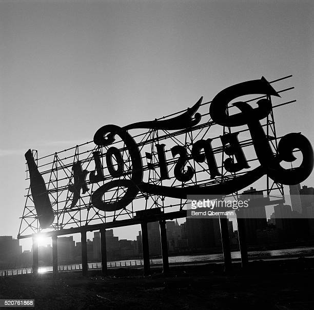Pepsi Cola sign in Long Island City, New York