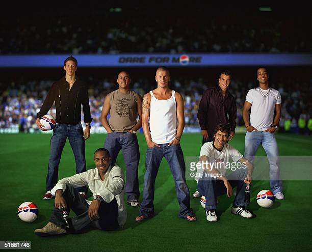 Pepsi International announces its allstar line up for 2005 Fernando Torres Roberto Carlos David Beckham Raphael Van Der Vaart and Ronaldinho Thierry...