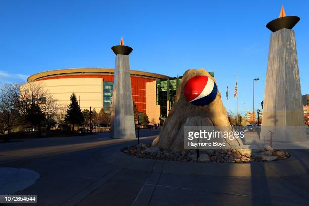 Pepsi logo outside the Pepsi Center home of the Denver Nuggets basketball team Colorado Avalanche hockey team and Colorado Mammoth Lacrosse team in...