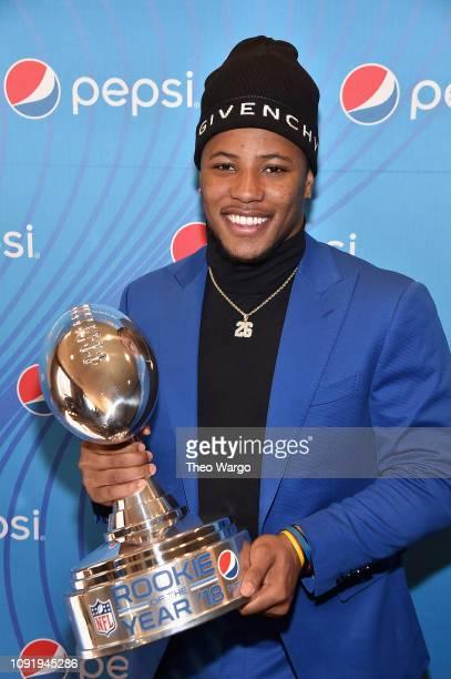 Pepsi Rookie Brunch Celebrating Saquon Barkley as 2018 Pepsi NFL Rookie of The Year at the Ritz Carlton on February 1 2019 in Atlanta Georgia