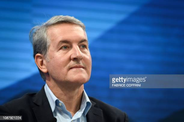 PepsiCO CEO Ramon Laguarta attends a session during the World Economic Forum annual meeting on January 24 2019 in Davos eastern Switzerland