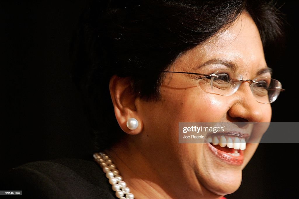PepsiCo's chair and CEO, Indra Nooyi attends the Miami Dade College Miami Leadership Roundtable September 10, 2007 in Miami, Florida. Nooyi guides one of the world's largest convenient food and beverage companies that has one of the most recognizable brand names.
