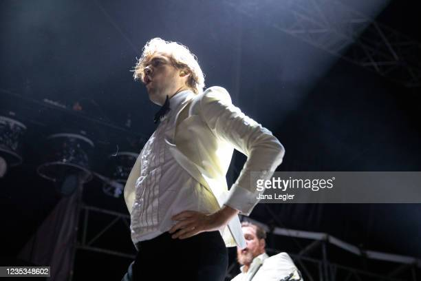 September 18: Per Almqvist of The Hives performs live on stage during day 2 of Pure & Crafted Festival in Berlin on September 18, 2021 in Berlin,...
