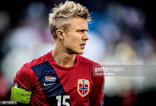 Per Ciljan Skjelbred of Norway during the EURO 2016 Qualifier between Norway and Croatia at the Ullevaal Stadion on September 06 2015 in Oslo Norway