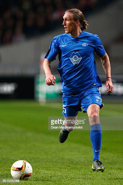 Per Egil Flo of Molde FK in action during the group A UEFA Europa League match between AFC Ajax and Molde FK held at Amsterdam Arena on December 10...