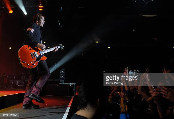 Per Gessle of Roxette performs on stage at the KoenigPilsenerArena on October 19 2011 in Oberhausen Germany
