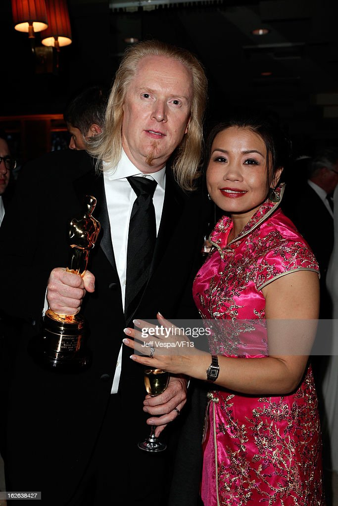 Per Hallberg and guest attends the 2013 Vanity Fair Oscar Party hosted by Graydon Carter at Sunset Tower on February 24, 2013 in West Hollywood, California.