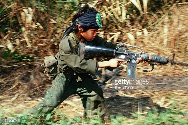 Per Ler 12yearold soldier training in Kamerplaw southern Burma headquarters of God's Army God's Army is a tiny breakaway faction of the Christian...
