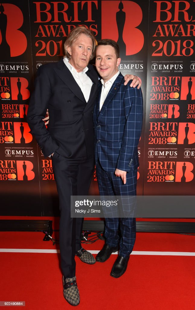Per M. Hansen and Paul Garbett attend The BRIT Awards 2018 after-party, hosted by Tempus magazine, at The Intercontinental Hotel, The o2, on February 21, 2018 in London, England.
