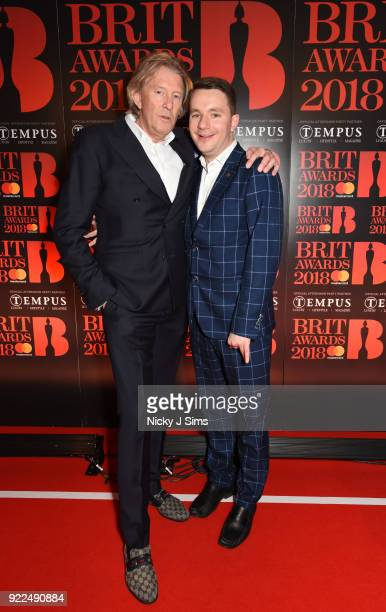 Per M Hansen and Paul Garbett attend The BRIT Awards 2018 afterparty hosted by Tempus magazine at The Intercontinental Hotel The o2 on February 21...