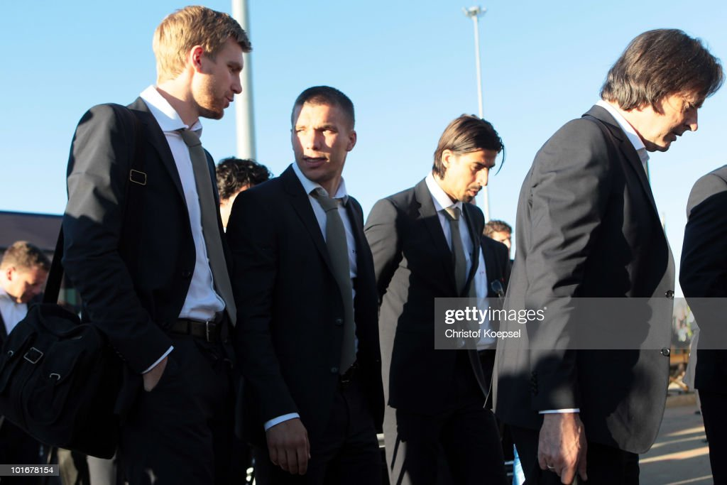 Germany Arrive For 2010 FIFA World Cup