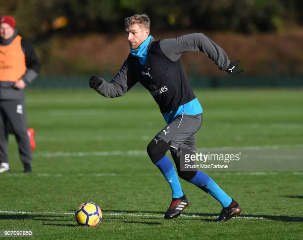 Per Mertesacker of Arsenal during a training session at London Colney on January 19 2018 in St Albans England