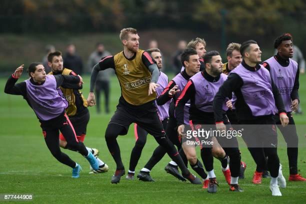 Per Mertesacker of Arsenal during the 1st team training session at London Colney on November 22, 2017 in St Albans, England.