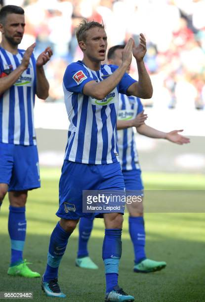 Per Skjelbred of Hertha BSC after the Bundesliga game between Hannover 96 and Hertha BSC at HDI Arena on May 5 2018 in Hannover Germany