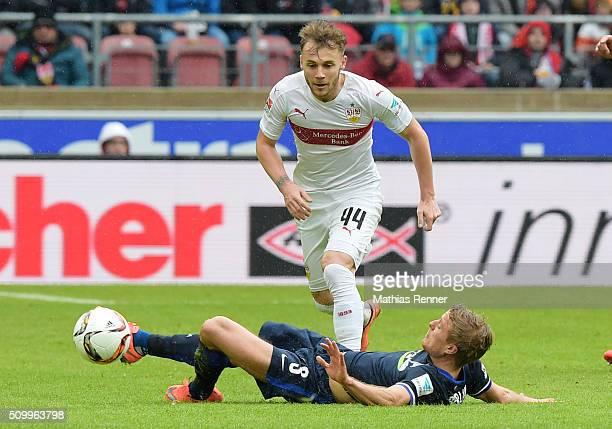 Per Skjelbred of Hertha BSC and Alexandru Maxim of VfB Stuttgart during the game between dem VfB Stuttgart and Hertha BSC on February 13 2016 in...