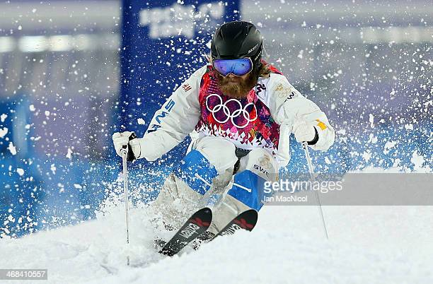 Per Spett of Sweden competes during the Men's Freestyle Skiing during day 3 of the Sochi 2014 Winter Olympics at Rosa Khutor Extreme Park on February...