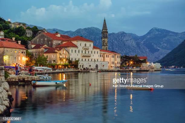 perast, montenegro - kotor bay stock pictures, royalty-free photos & images