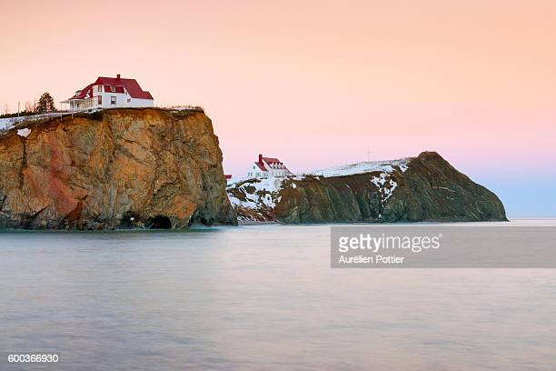 percé, cape canon and cape mont joli - gaspe peninsula stock pictures, royalty-free photos & images