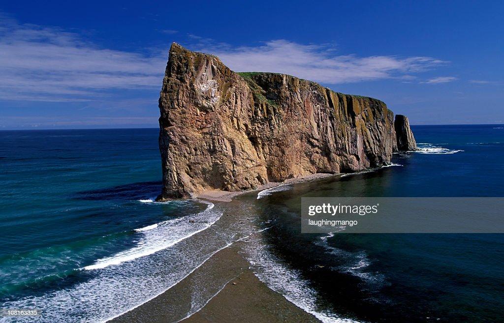 Perce Rock on Gaspe+E115529 Peninsular in Quebec, Canada : Stock Photo