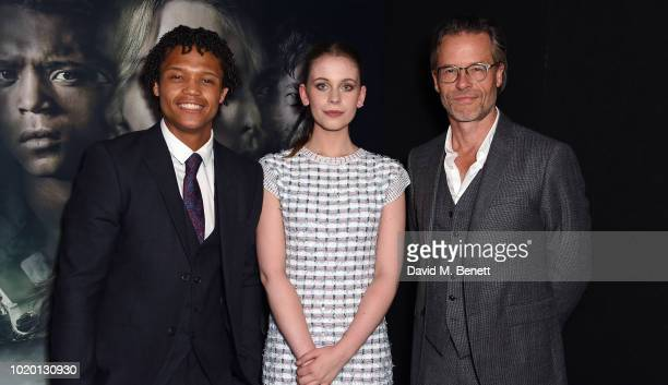 Percelle Ascott Sorcha Groundsell and Guy Pearce attend a special screening of 'The Innocents' at The Curzon Mayfair on August 20 2018 in London...