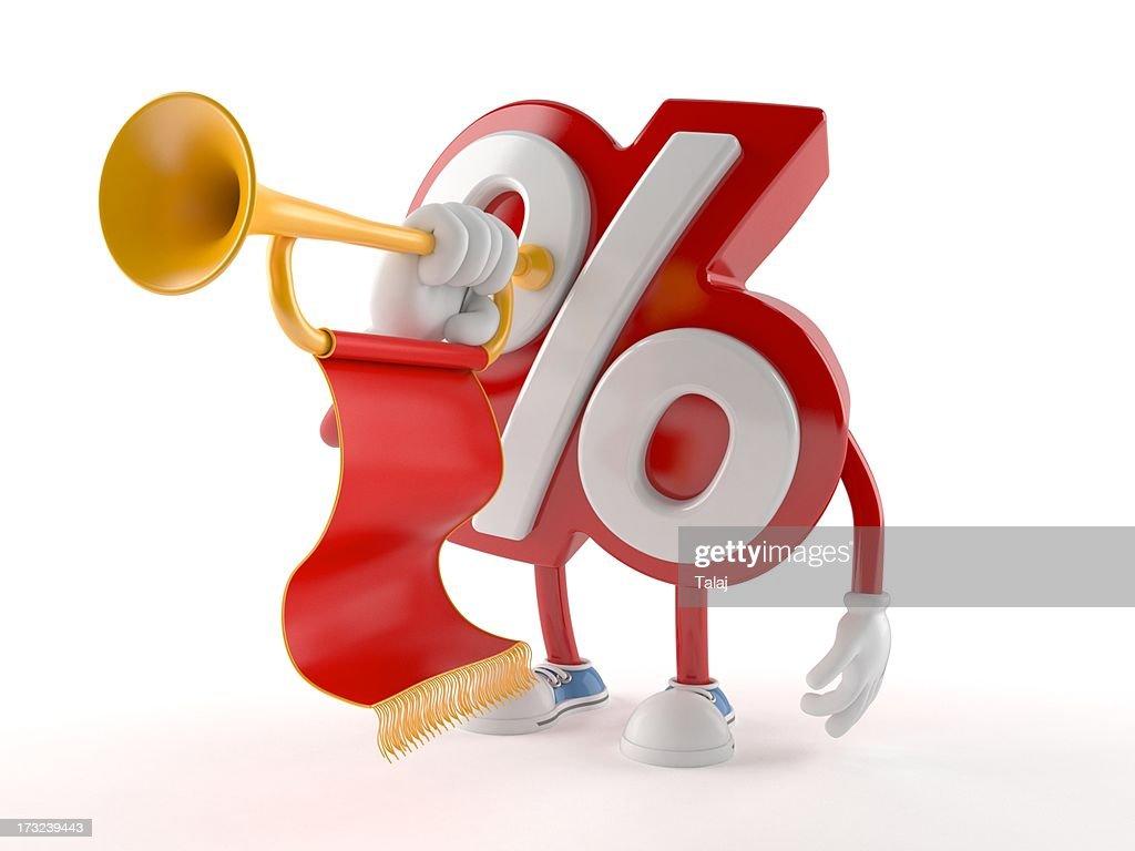 Percent : Stockfoto