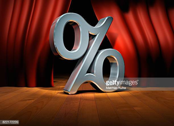 Percent Symbol on Stage