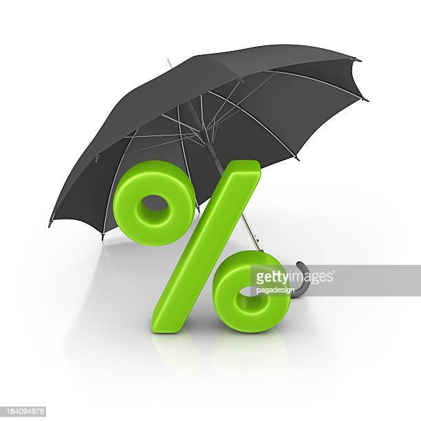 percentage sign and umbrella - percentage sign stock pictures, royalty-free photos & images
