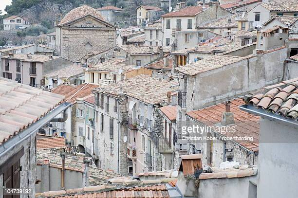Perched village of Peille, Alpes-Maritimes, Cote d'Azur, French Riviera, Provence, France, Europe