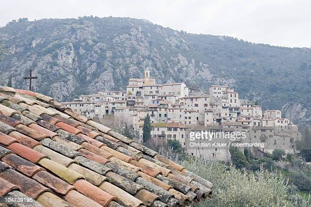 Perched village of Peillon, Alpes-Maritimes, Cote d'Azur, French Riviera, Provence, France, Europe