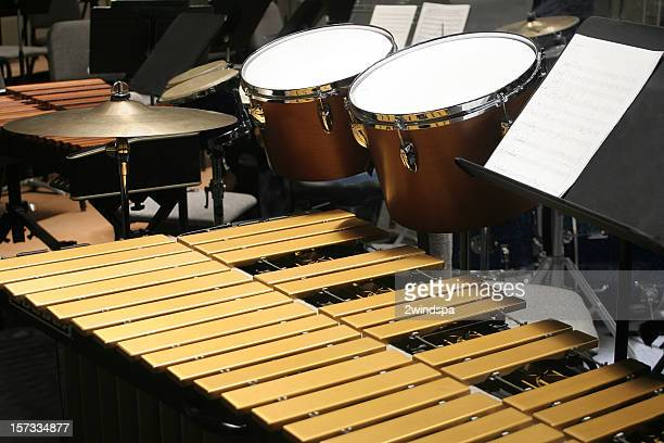 percussion setup - percussion instrument stock photos and pictures