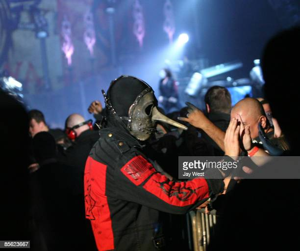 Percussionist Chris Fehn of Slipknot performs in concert at The Freeman Coliseum on March 1 2009 in San Antonio Texas