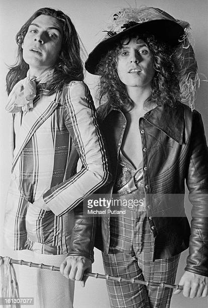 Percussionist Mickey Finn and singer Marc Bolan of British glam rock group TRex 20th November 1972