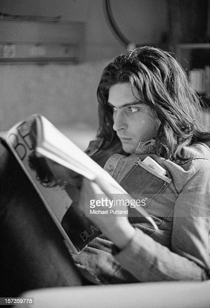 Percussionist Mickey Finn of British glam rock group T-Rex, at the Chateau d'Herouville recording studio, France, 23rd October 1972. The group are...